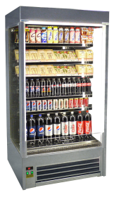 Slimline Black Display Fridge