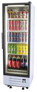 Single Door Upright Display Chiller Fridge