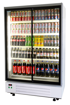 Double Door Upright Display Chiller Fridge
