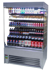 Shutter Stainless Steel Display Fridge