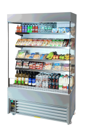 Slimline Stainless Steel Display Fridge