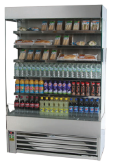 Double Glazed Stainless Steel Display Fridge